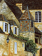 Scott Nelson Posters - Houses in Sarlat Poster by Scott Nelson