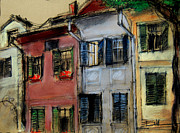 Romania Pastels - Houses In Transylvania 1 by EMONA Art