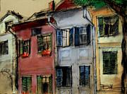 Houses In Transylvania 1 Print by Mona Edulesco