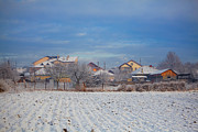 Winter Landscape Photos - Houses in winter by Gabriela Insuratelu
