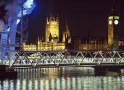 New Britain Posters - Houses Of Parliament And Millenium Poster by Axiom Photographic