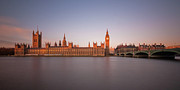 London Art - Houses Of Parliament At Dawn by Tu xa Ha Noi