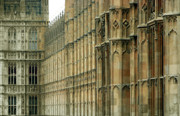 Gothic Architecture Pyrography Prints - Houses of Parliament Print by Christo Christov