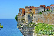 Cliff Framed Prints - Houses On Top Of Cliff Framed Print by Pascal POGGI