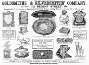 Silver Bowl Prints - Housewares, 1892 Print by Granger