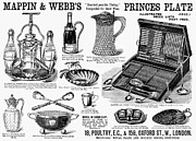 Silver Bowl Prints - Housewares Ad, 1890 Print by Granger