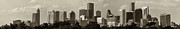 Sky Line Art - Houston Skies Black and White by Joshua House