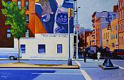 Cities Tapestries Textiles Originals - Houston Street by John Tartaglione