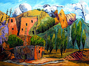 Canyons Painting Prints - Hovenweep The Penthouse  Print by Charlie Spear