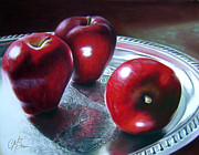 Trio Pastels Prints - How About Them Apples Print by Colleen Brown