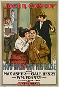 1910s Poster Art Framed Prints - How Billy Got His Raise, From Left Framed Print by Everett