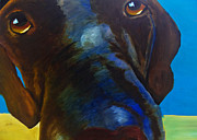 Labrador Retriever Paintings - How Can You Resist by Roger Wedegis