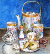 Teapot Paintings - How Fortunate by Jane Loveall