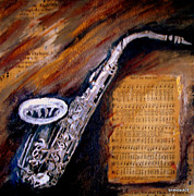 Music Score Paintings - How Great Thou Art by Lyn Deutsch