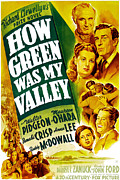 Academy Awards Framed Prints - How Green Was My Valley, Donald Crisp Framed Print by Everett