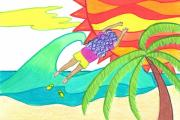 How I Lost My Flip Flops Print by Geree McDermott