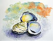 Oysters Painting Prints - How many can I have Print by Sibby S