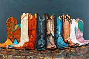 Boots Prints - How the West Was Really Won Print by Frances Marino