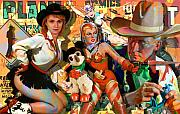 Sci-fi Painting Framed Prints - How The West Was Won Framed Print by Robert Anderson