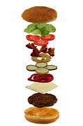 How To Build A Hamburger Print by Gert Lavsen