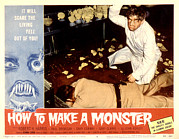 Monster Movies Posters - How To Make A Monster, Dennis Cross Poster by Everett