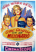 1950s Movies Framed Prints - How To Marry A Millionaire, Betty Framed Print by Everett