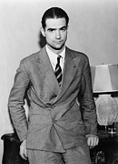 Millionaire. Prints - Howard Hughes 1905-1976 In 1936 Print by Everett