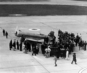 1930s Candid Photos - Howard Hughes Lands At Floyd Bennett by Everett