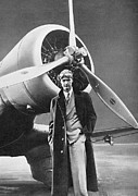 Howard Framed Prints - Howard Hughes, Us Aviation Pioneer Framed Print by Science, Industry & Business Librarynew York Public Library