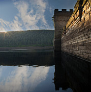 Walking Around Ladybower Reservoir Framed Prints - Howden Sun Rise Framed Print by Nigel Hatton
