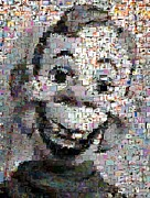 Howdy Doody Prints - Howdy Doody Cartoon Mosaic Print by Paul Van Scott