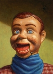 Blue Drawings Framed Prints - Howdy Doody dodged a bullet Framed Print by James W Johnson