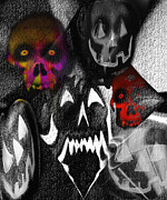 Frightening Mixed Media - Howl O Ween by Kevin Caudill