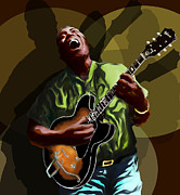 Music Legend Digital Art Framed Prints - Howlin Wolf Framed Print by David Fossaceca