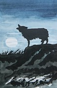 Howling Paintings - Howling Wolf  by Warren Thompson