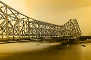 Stormy Weather Posters - Howrah Bridge Poster by Mukesh Srivastava