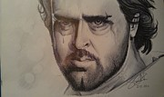 Drop Drawings Originals - Hrithik Roshan From Agneepath by Sandeep Kumar Sahota