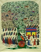 Gond Art Paintings - Hu 36 by Hiraman Urveti