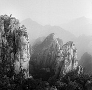 Frozen Photo Prints - Huangshan Peaks Print by Vincent Boreux Photography