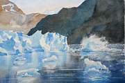 Glacier Paintings - Hubbard Glacier by Mohamed Hirji