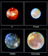 Galilean Moons Posters - Hubble Imagery Of Jupiters Four Poster by Space Telescope Science Institute / NASA