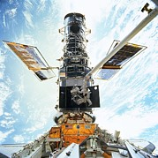 Hubble Prints - Hubble Servicing Print by Nasa