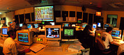 Control Room Photo Posters - Hubble Space Telescope Control Room Poster by David Parker