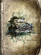 Smoke Mixed Media Posters - Hudson Hornet Poster by Svetlana Sewell