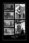 Clock Hands Digital Art Posters - Hudson Ohio Compilation I  Poster by Kenneth Krolikowski