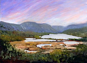 Cloudy Day Paintings - Hudson River from Boscobel by Dennis Kirby