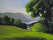 New York State Painting Originals - Hudson River From Patterson Farm by Robert Rohrich