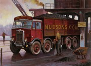 Crane Painting Framed Prints - Hudsons coal. Framed Print by Mike  Jeffries