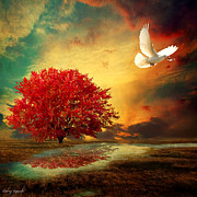 Red Leaf Digital Art - Hued by Lourry Legarde