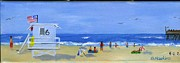 Gallery Painting Originals - Hueneme Beach  by Sheryl Heatherly Hawkins